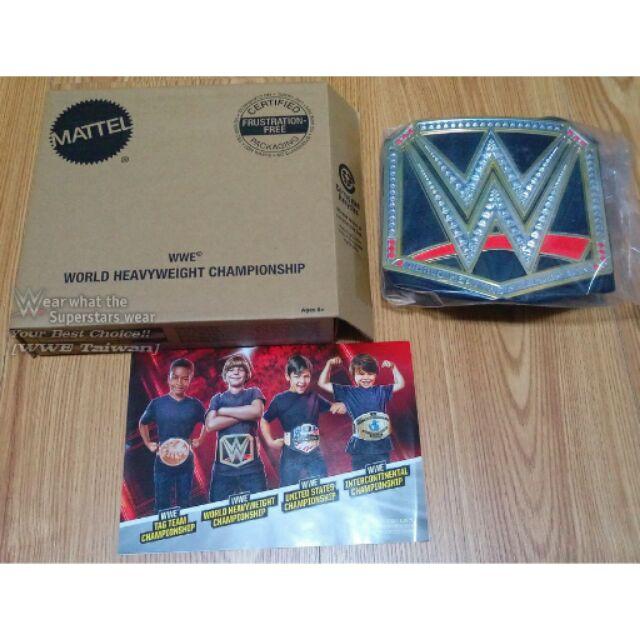 WWE Taiwan WWE World Ch ionship Toy Belts 世界重