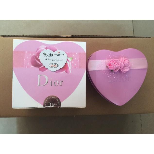 Dior 迪奧口紅套裝香水小樣小迪心形套盒小迪口紅套裝送禮