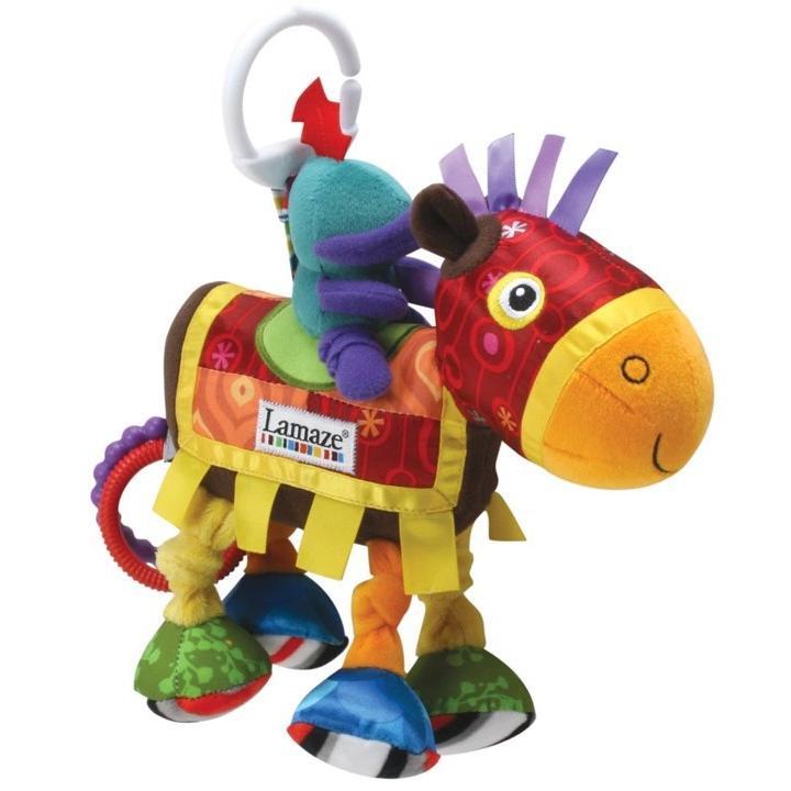 (週週 )鎬媽布書布玩園小馬和騎士宮廷風車床掛車掛寶寶安撫玩偶嬰兒益智玩具Lamaze 拉