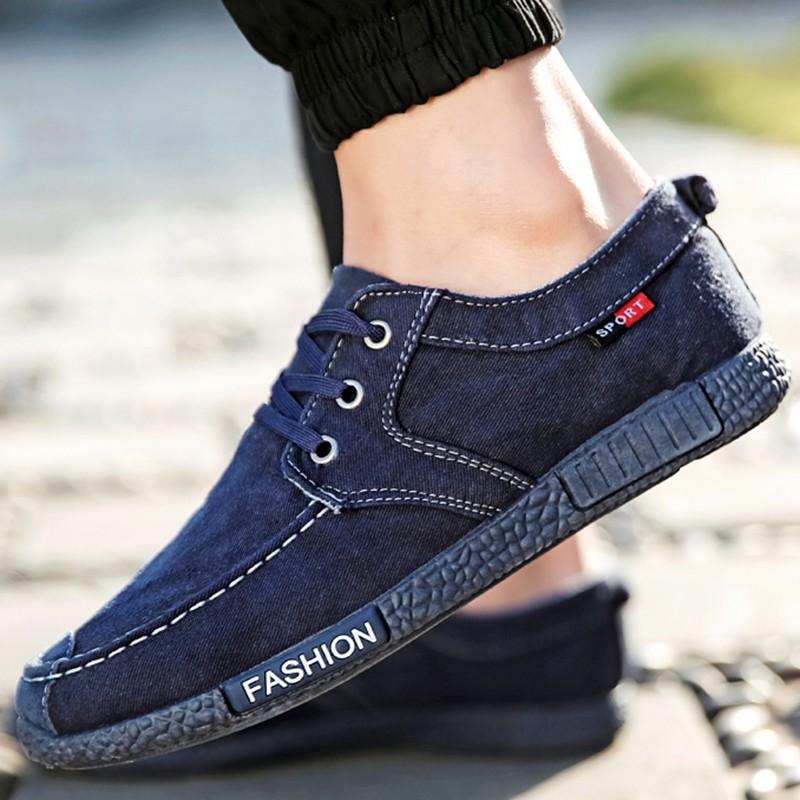 潮男布鞋透氣休閒男鞋低幫 鞋男士帆布鞋單鞋子