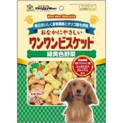 多格漫Doggy man 犬用寡糖添加原味低脂五蔬果野菜消臭餅乾160g