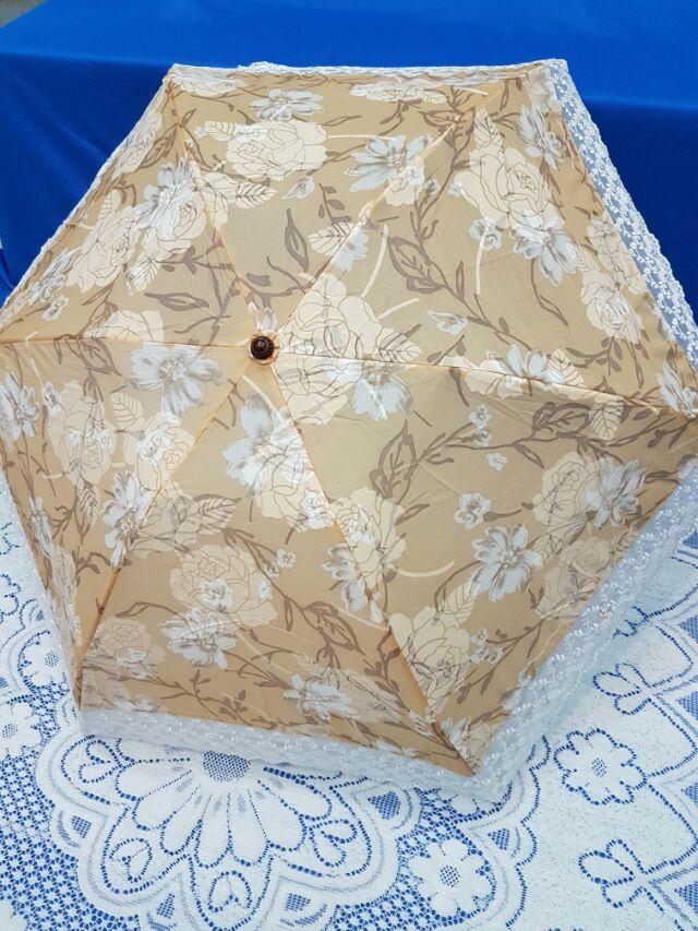 us025  傘棉混傘抗UV 防雨降溫輕量傘折疊傘晴雨傘蕾絲傘 傘洋傘遮陽傘雨傘