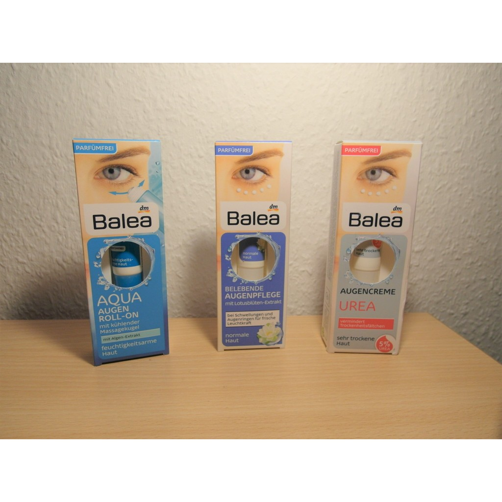 德國balea 眼霜系列/尿素精華/蓮花萃取精華/Aqua 保濕
