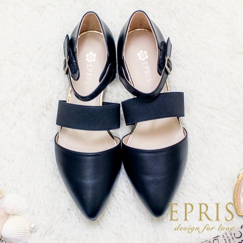 黑23 25 MIT 小中大 涼鞋 簡約女神全真皮柔軟平底羅馬鞋鋼琴黑P032