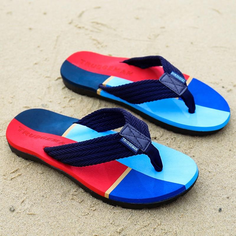 人字拖男士 耐磨厚底防滑沙灘鞋男情侶款 大碼涼拖鞋男