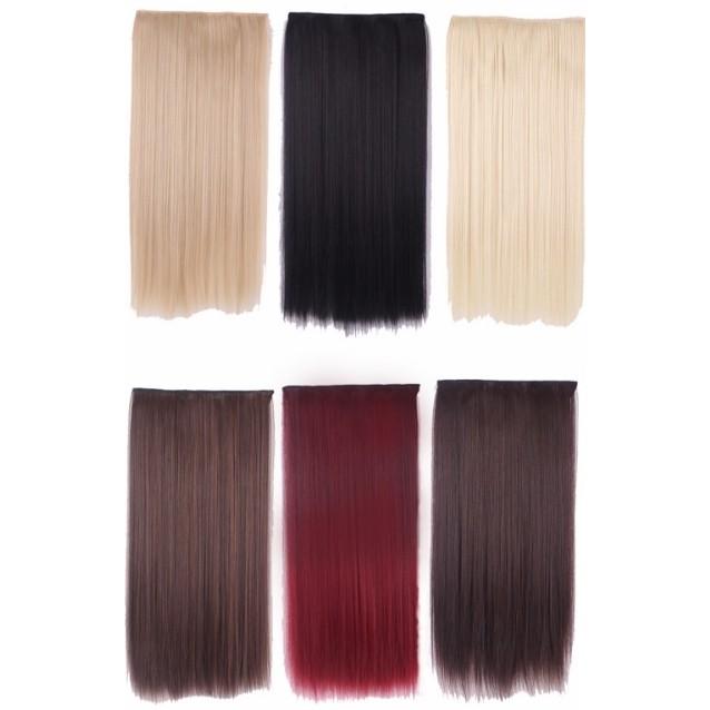 多色 髮片日常長直馬尾5 扣接髮cosplay 假髮萬用金色黑色髮網動漫天藍樹