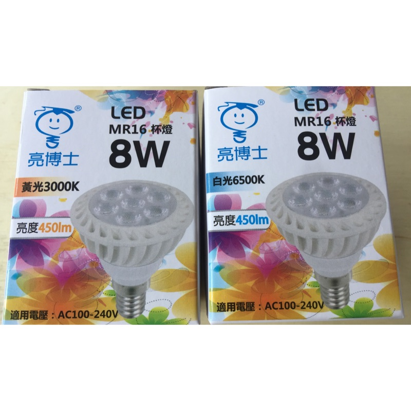 ~LION 光屋~高效率LED 節能E27 燈頭8w MR16 杯燈(雙電壓)