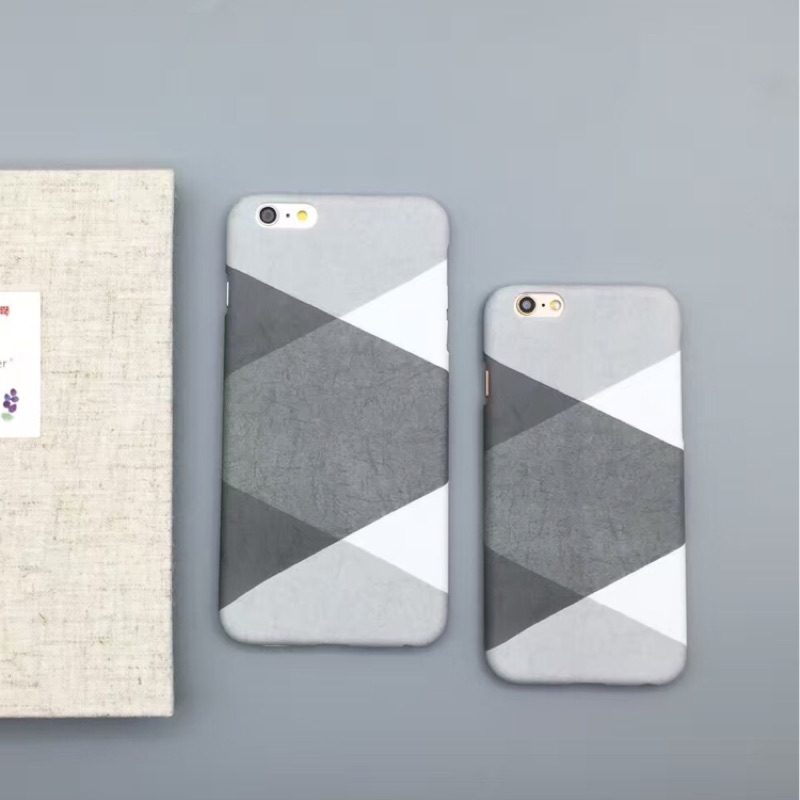 oppo 蘋果iphone7 iPhone6 手機殼簡約灰白拼色蘋果6s 外殼潮流文藝6p
