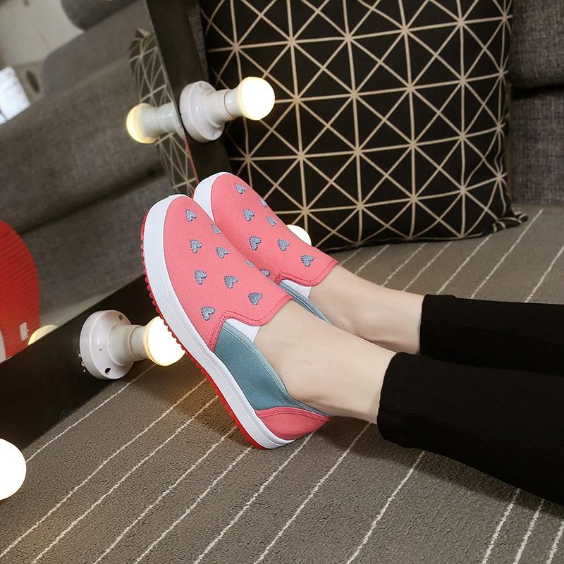 ❤老北京布鞋女學生潮春夏女鞋平跟休閒鞋一脚蹬懶人鞋平底單鞋