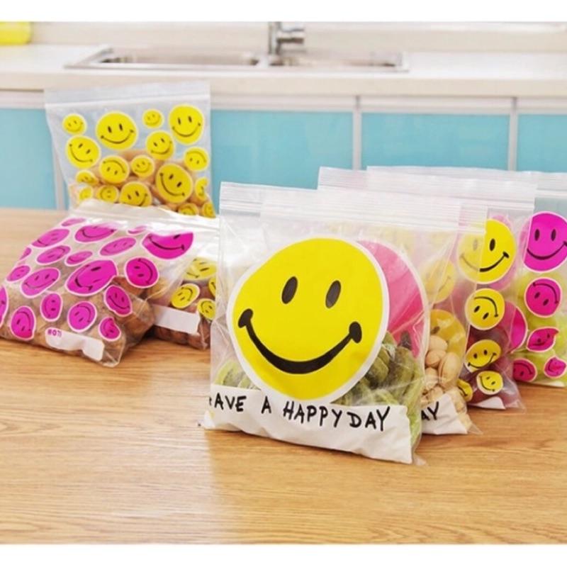 微笑笑臉夾鏈袋收納袋冰箱收納食物密封袋保鮮袋分類袋毛毛蟲熊熊
