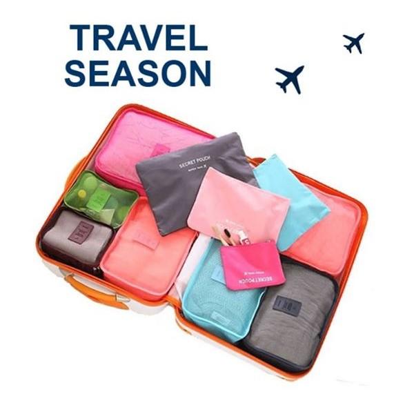 ~Dream No 496 ~ 輕旅行收納袋6 件組收納整理箱出國行李收納包中包手提袋分類