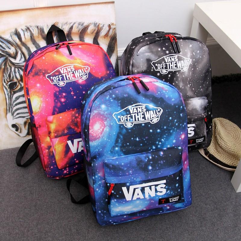 VANS 星空 潮流學院風男女學生書包青年情侶雙肩包休閒 後背包