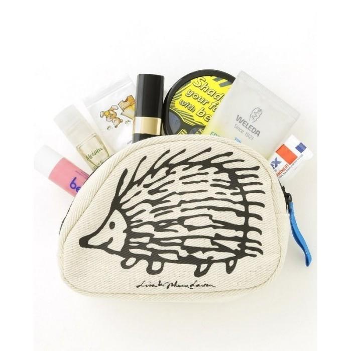 ~Lime cat ~ 雜誌附錄我愛北歐風Lisa Larson 刺蝟收納袋化妝包小物包手