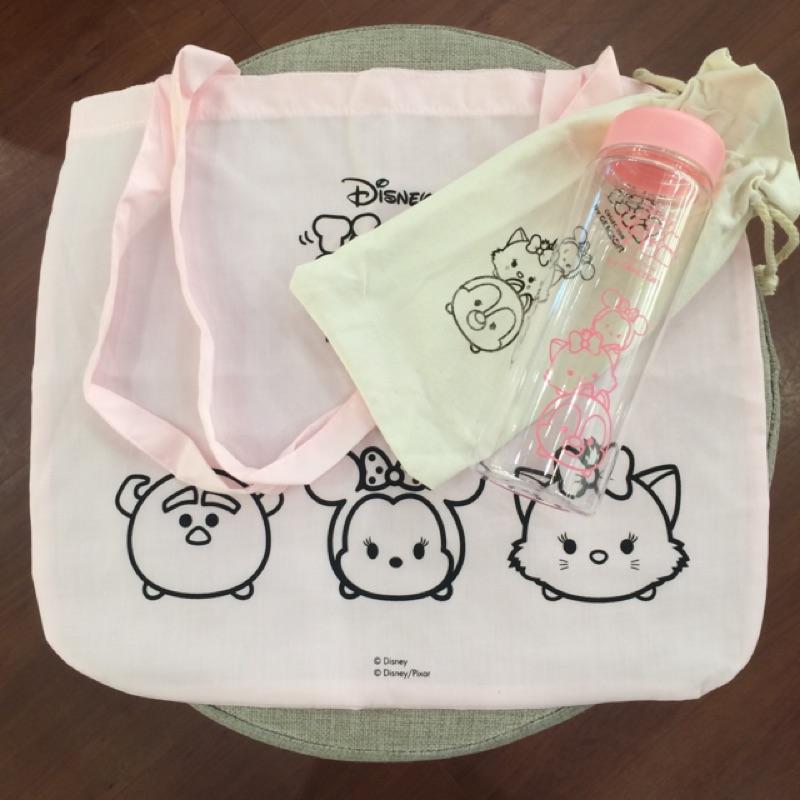 Tsumtsum 迪士尼聯名Grace gift 疊疊樂冷水瓶手提袋tsum tsum
