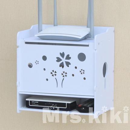Mrs kiki ♡無線路由器收納盒集線盒理線盒客廳電視機壁掛~SD116 ~