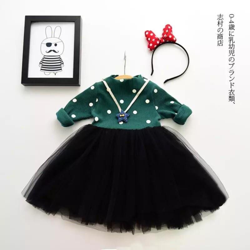 [ ] ~羅紋點點長袖混紗裙洋裝(4 款)