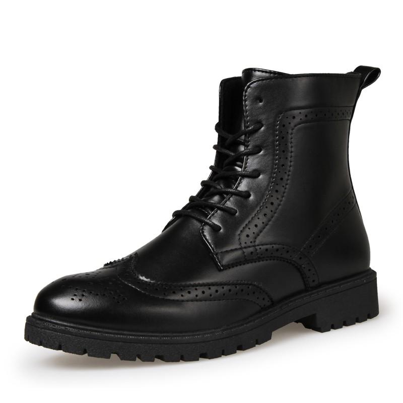 2016 特種兵軍靴秋 馬丁靴黑色男士皮靴高幫 短靴英倫潮流男靴子
