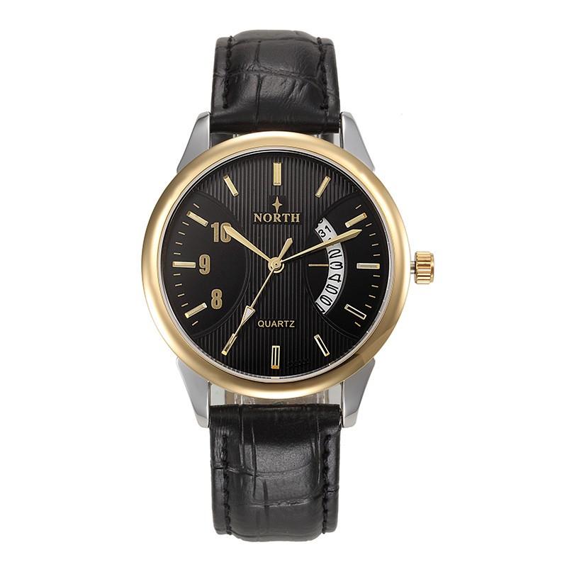 男士 手錶皮錶帶商務休閒腕錶自動日期石英手錶