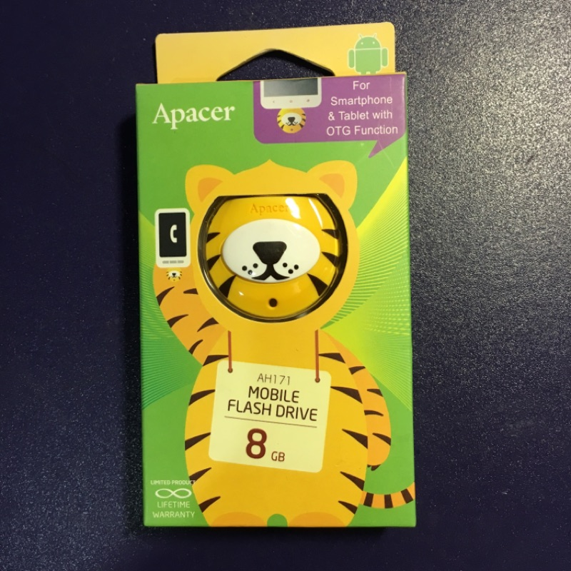 Apacer 宇瞻~麻吉動物園~AH171 8GB OTG 隨身碟霸霸虎