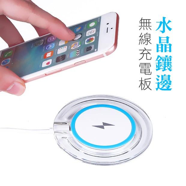 ~P01 ~水晶無線充電板好神 │智慧型手機無線充 iPhone 安卓三星小米 充電板充