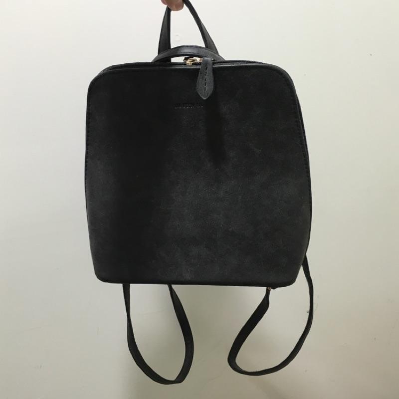 黑灰色後背包側背包兩用包簡約極簡風格古著韓系