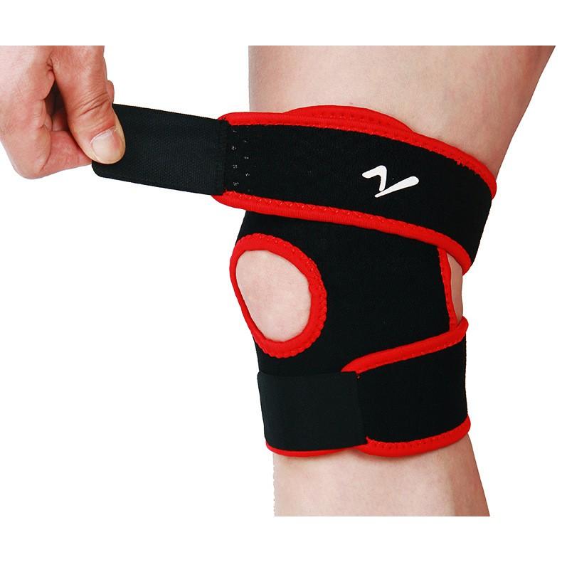 新戶外 籃球訓練彈性膝蓋大括號護膝可調髕骨膝墊孔護膝安全帶