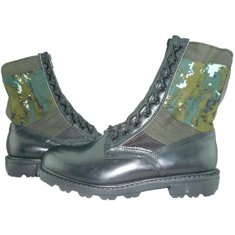 W 軍品小舖國軍 迷彩戰鬥靴附拉鍊盤還送鞋墊唷野戰鞋軍威牌生存遊戲工作休閒