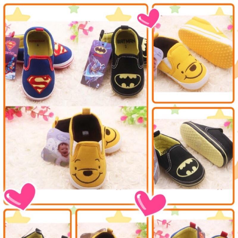 可愛學步鞋(超人、蝙蝠俠、維尼)