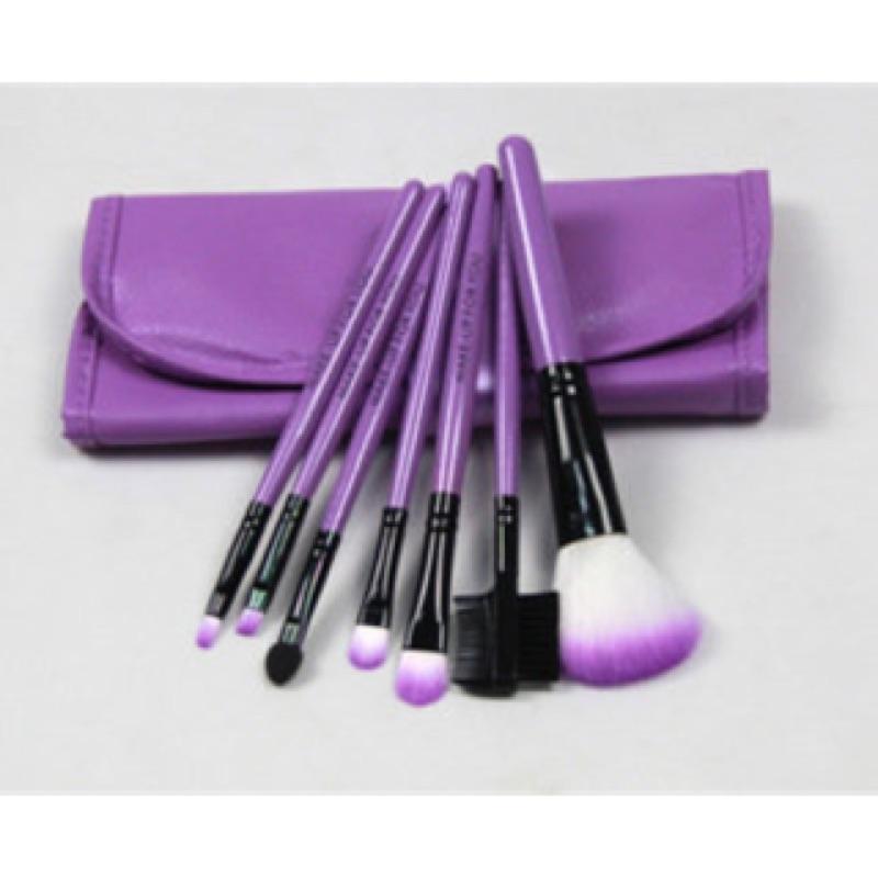 ~晴媽小舖88 眼影~MAKE UP FOR YOU 紫色7 件刷具組外出攜帶含腮紅刷眼影