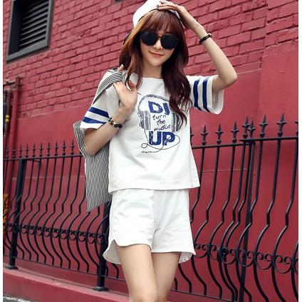 套裝女 修身兩件套夏裝 潮小清新韓國學生短褲 氣質顯瘦