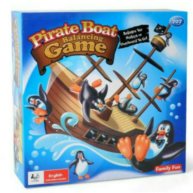 桌遊船轉企鵝企鵝海盜船企鵝疊疊樂
