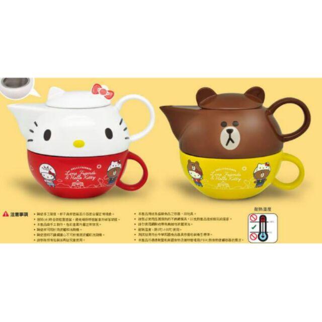 7 11 集點活動Hello Kitty X LINE 下午茶壺組2 款任一款直購350