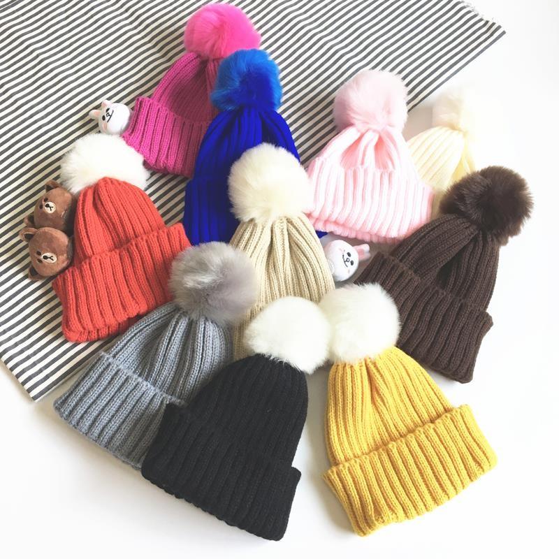 男童女童毛帽 款兒童寶寶嬰兒針織毛線帽小孩保暖