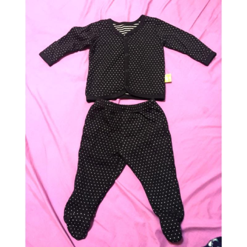 新生兒嬰兒寶寶外套包腳褲