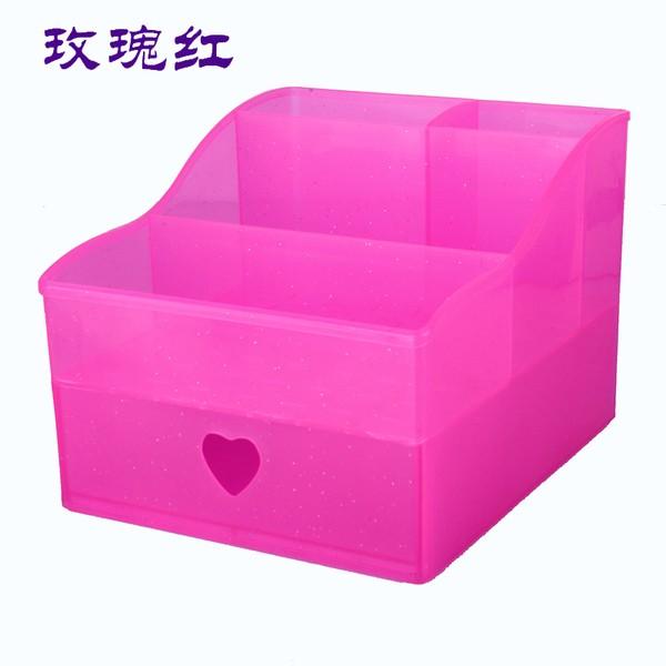桌面收納盒化妝品收納盒抽屜式塑料收納箱