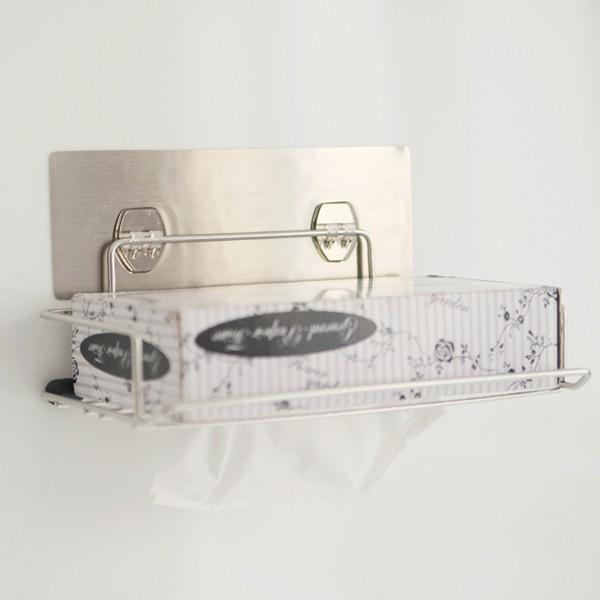 無痕貼面紙盒紙巾盒~C0036 ~髮絲紋無痕貼~不鏽鋼面紙盒抽取架~MIT 製完美主義