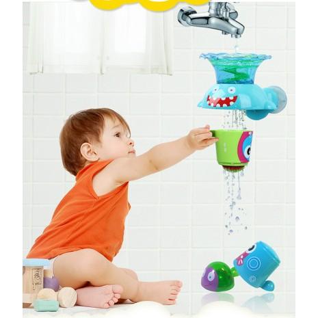 美國zhitongbaby 玩具疊疊樂噴水花灑水龍頭寶寶戲水洗澡
