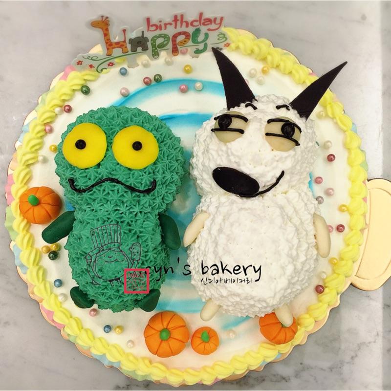 蛋糕生日蛋糕包姆與凱羅