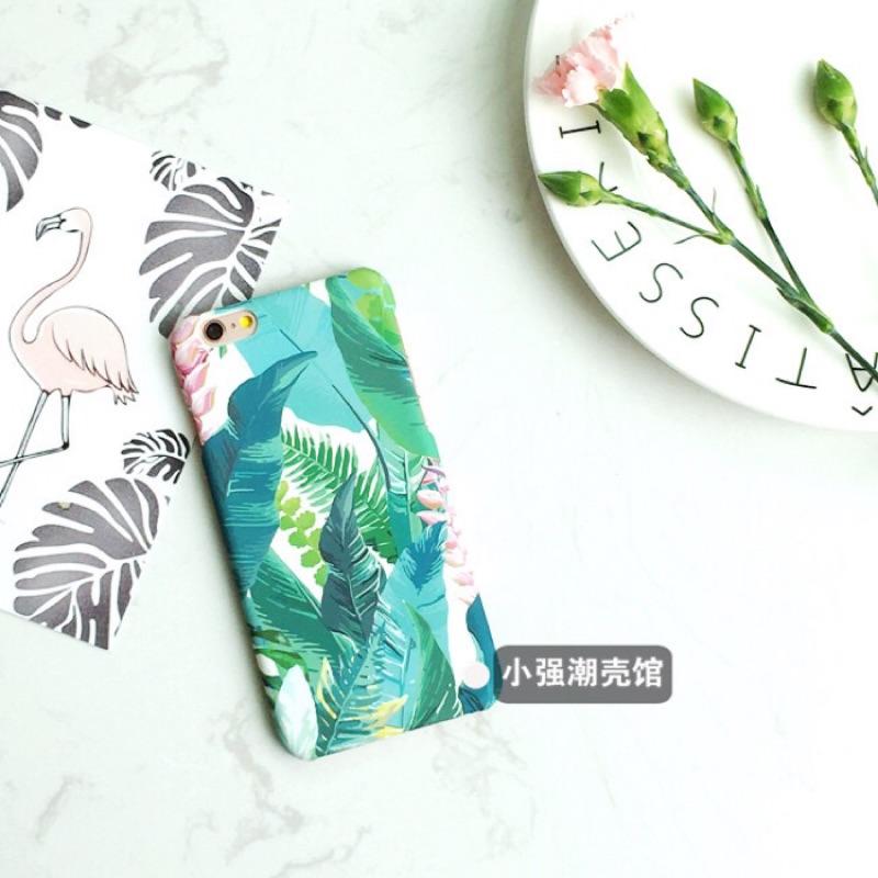 原創小清新文藝復古葉子iPhone6 s 手機殼花朵磨砂硬殼