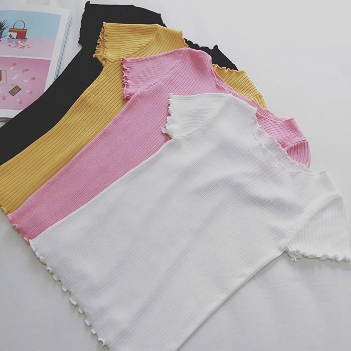 針織衫甜美花邊短袖修身顯瘦針織T 恤上衣女寬褲褲裙長洋裝背心吊帶裙襯衫套裝長版連身裙罩衫小