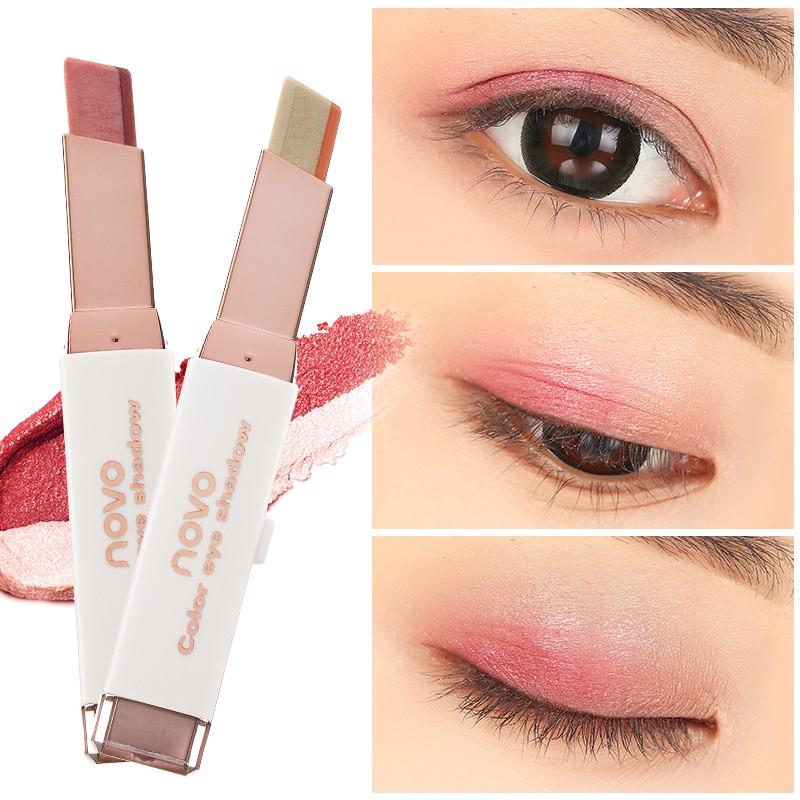 太陽的后裔韓國大地色雙色眼影棒臥蠶筆腮紅筆絲絨眼影筆眼妝
