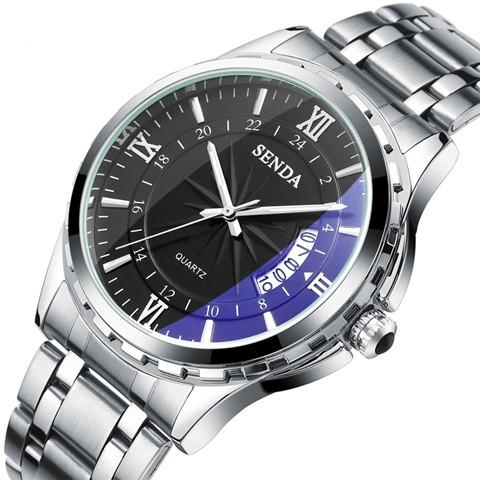 ~柳丁 手錶~正品藍光手表男士防水夜光鋼帶機械男表石英表潮流學生女款情侶表