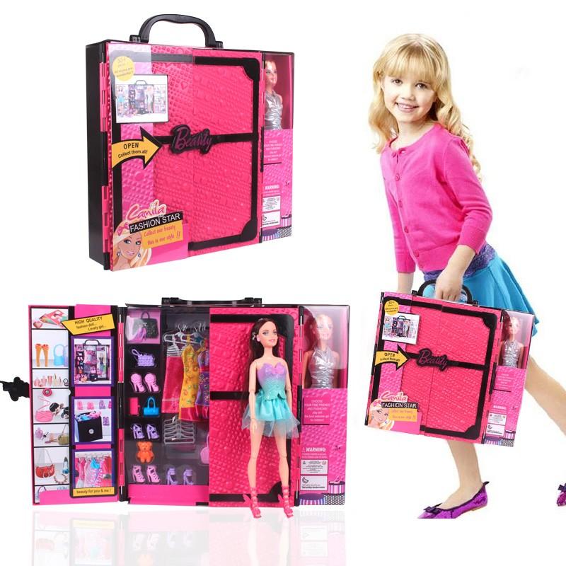 夢幻衣櫥芭比娃娃公主換裝套裝手提大 女孩 兒童生日 都市方圓