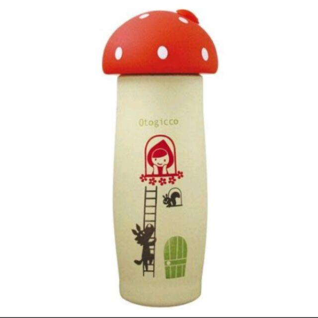 加藤真治Otogicco 小紅帽與大野狼蘑菇 不銹鋼保溫瓶附手勾繩