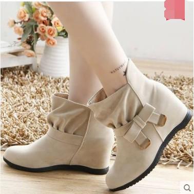 ~衣詩衣倩のღ~短靴女春鞦鼕季內增高女鞋馬丁靴英倫風學生女靴子單靴雪地靴裸靴