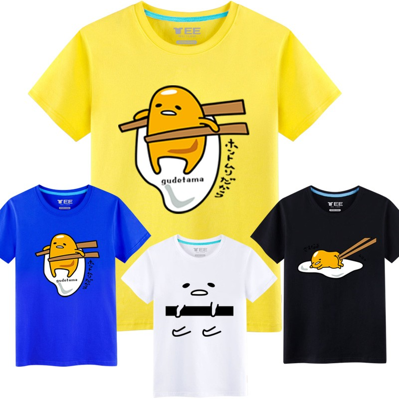 蛋黃哥T 恤男卡通懶蛋蛋寬松短袖動漫周邊gudetama 衣服2016 春夏裝