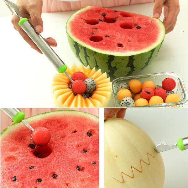 Stainless Steel Fruit Salad Scoop Spoon Melon