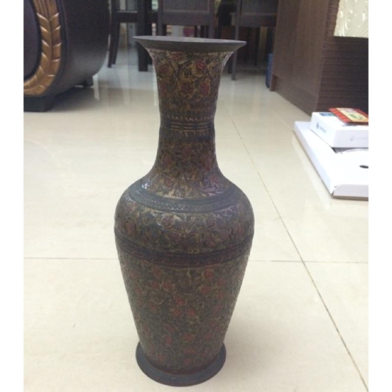 純銅花瓶擺設