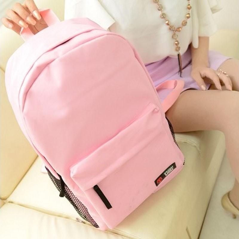 帆布雙肩包潮女電腦包學院風 初中學生書包旅行包大包背包~包包肩背包後背包側背包書包托特包皮