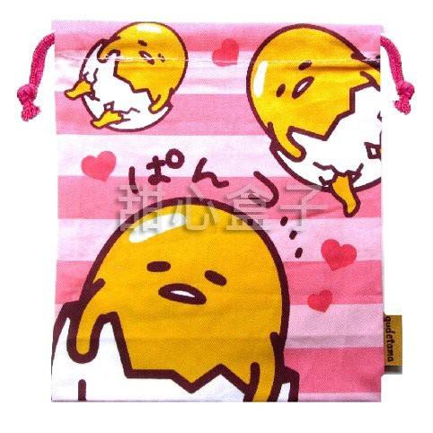 ~小安 通~ ㊣版三麗鷗蛋黃君蛋黃哥懶懶蛋無力蛋束口袋子相機袋小物袋拍立得相機包袋子G04